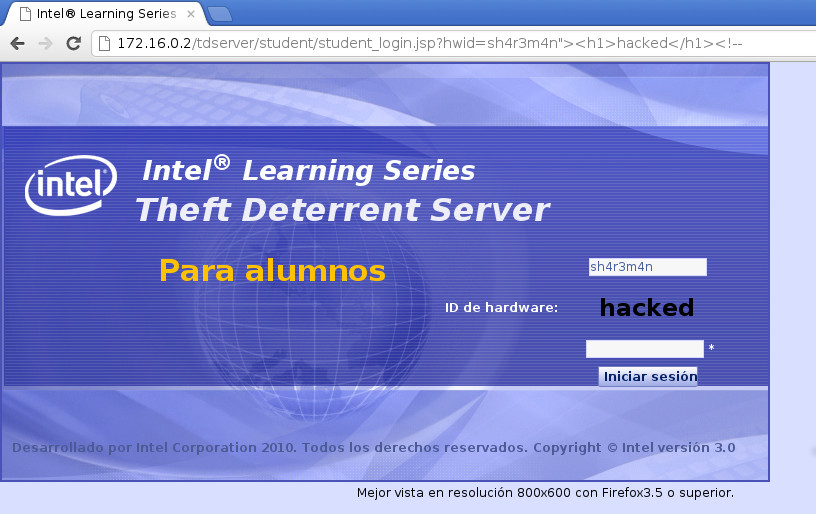 intel learning series theft deterrent agent